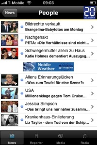 Screenshot von 20 Minuten