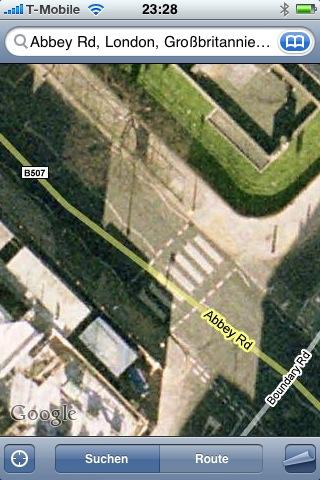 der berühmte Zebrastreifen am der Abbey Road