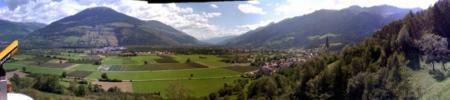 Panorama über Südtirol