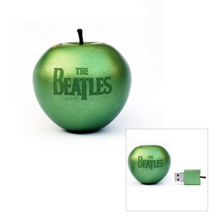die Beatles auf einem Apfel