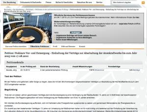 ePeition an den Deutschen Bundestag.
