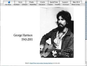 Zum Tode von Beatles George.