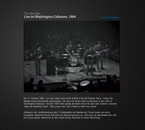 Kreisch: Das US-Konzert der Beatles 1964.