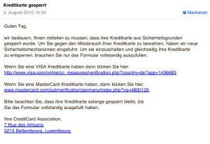 Schlechte Phishingmail