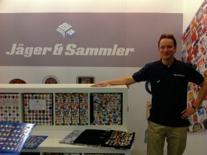 Der Stand von Jäger & Sammler auf der Paperworld 2011.