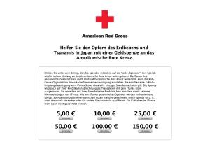 iTunes Spenden für Japan über deutschen Store.