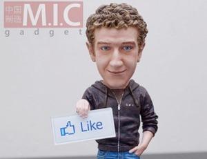 Mark Zuckerberg als Spielzeug.