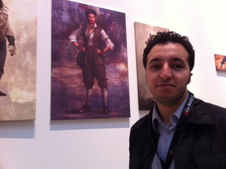 Mohamed Gambouz im Haus der Kunst.