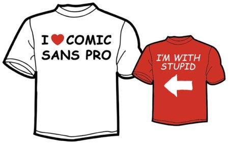 Bitte nicht noch mehr Comic Sans.