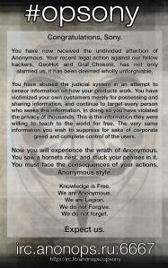 Hacker-Sturm gegen Sony.