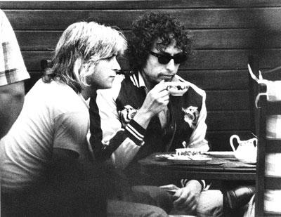 Unveröffentliches Dylan-Foto von 1978 im Backstage-Bereich von Nürnberg.