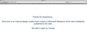 Microsoft arbeitet auch an einem Sozialen Netzwerk.