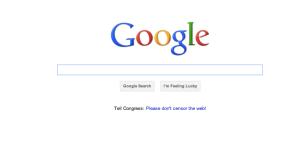 Protest auf Google