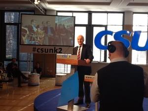 Ein wichtiges Zeichen: Ex-CSU-Chef Stoiber wirbt für das Netz.