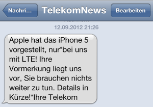 Cooler Service von der Telekom. dachte ich mir.