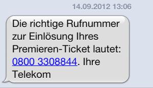 Stunden später kam die Korrektur von der Telekom. Da hatte ich schon bei der Sexhotline angerufen.