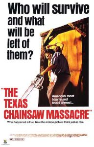 Mein The Texas Chain Saw Massacre-Poster aus dem Keller.