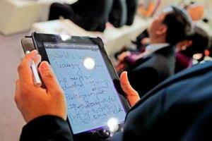 Tablet auf der Buchmesse Foto: Alexander Heimann