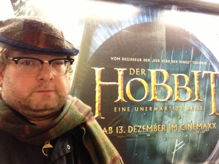 Kinobesuch des Hobbits im Royal Palast in München.