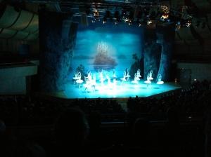Wunderbar die Choreografie bei Schwanensee.