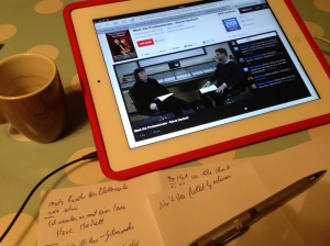 Live am iPad zu Hause dabei.
