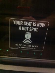 Hot-Spot im Zug.