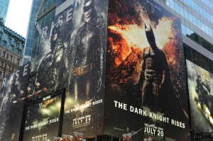 Batman-Werbung am Time Square in New York.