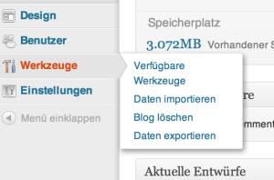 In WordPress gibt es die richtigen Werkzeuge für den Import.