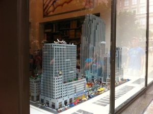 Das Rockefeller Center in Lego.