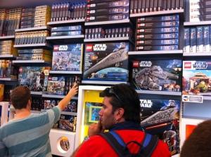 Auch die New Yorker lieben Lego Star Wars.