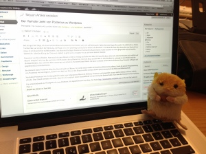 Der Hamster beobachtet den Umzug seines Blogs