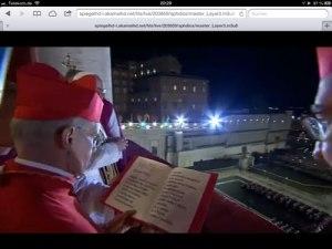 Im Internet konnte ich live das Ausrufen des neuen Papstes erleben. Mobiles Video macht es möglich.