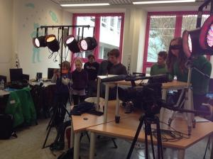 Crossmedia-Schulung am Gymnasium in Selb.