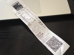 QR Code auf dem Kassenzettel