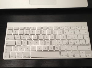 Die Apple Bluetooth-Tastatur