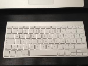 Die Apple Bluetooth-Tastatur