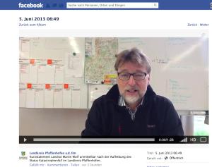 Landratsämer wie hier Pfaffenhofen an der Ilm informieren über Facebook und YouTube.