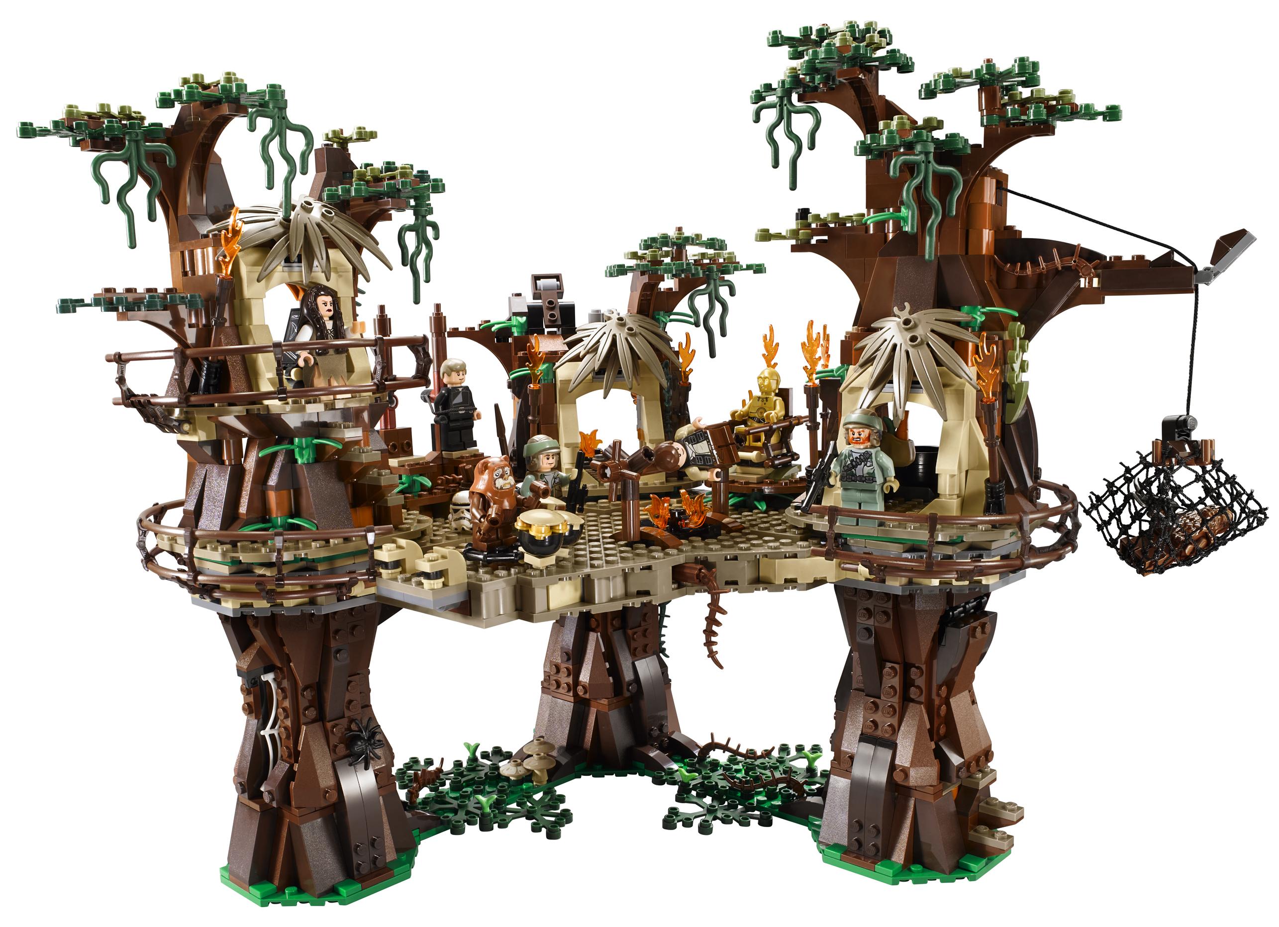 Wunderschöne Details Beim Ewoks Dorf   Lego Set 10236.