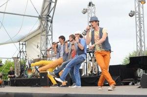 Die A-Cappella Band Mit ohne Alles eröffnete das Festival.