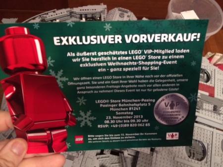 Einladung zum Lego VIP-Shopping.