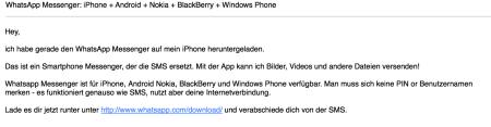 Spam-Mails von WhatsApp
