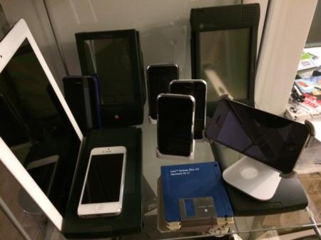 Meine Newtons und iPhone von Apple.