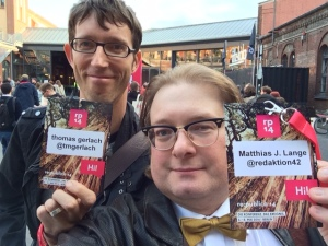 Kollege Thomas Gerlach und ich.