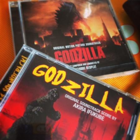 Zweimal Godzilla aufs Ohr. Der Soundtrack von 1954 und von 2014.