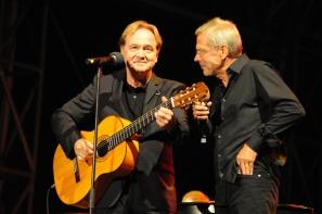 Klaus Hoffmann und Reinhard Mey im Duett. Foto: Lange