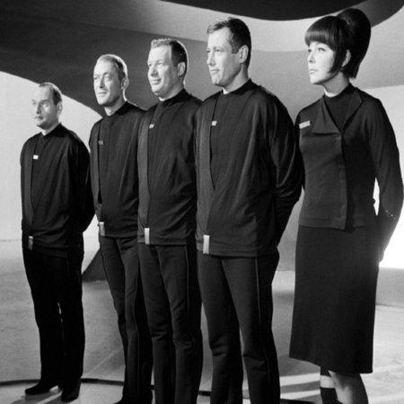 Commander Cliff Allister McLane alias Dietmar Schönherr und seine Orion Mannschaft