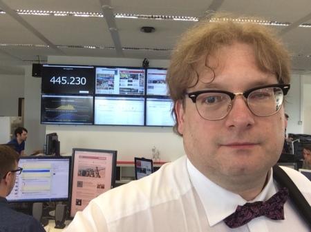 Ein wirkliches Selfie von mir in der Nachrichtenzentrale von Focus Online.