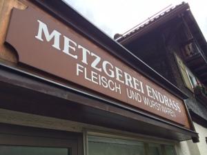 Inspiriert von der guten Wurst, schaute ich gleich beim Metzgerei Endrass in Bad Hindelang vorbei.