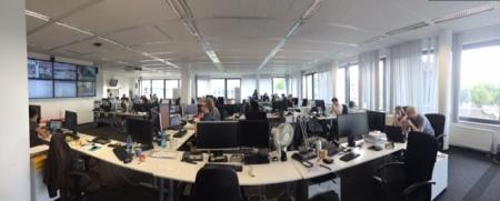 Der Action Room der Redaktion.
