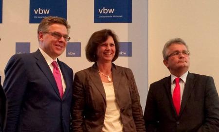Stefan Winners, Ministerin  Ilse Aigner und vbw-Hauptgeschäftsführer Bertram Brossardt